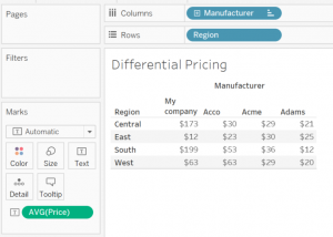 Differential Pricing Using Table Calculations
