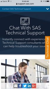 Solve your SAS questions with Technical Chat