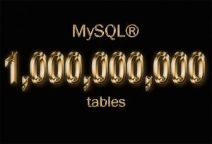 One Billion Tables in MySQL 8.0 with ZFS