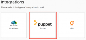 How to integrate Puppet Enterprise with VMware Cloud Assembly
