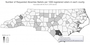 Looking for indications of fraud, in North Carolina's absentee ballots