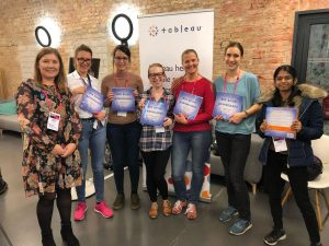 Women in data hack for gender equality at HACK4Ladies Berlin