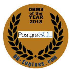 PostgreSQL is the DBMS of the Year 2018