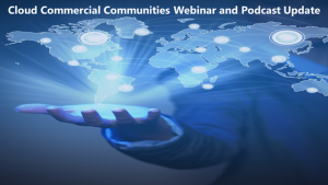 Cloud Commercial Communities webinar and podcast newsletter - January 2019