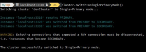 """MySQL InnoDB Cluster – Changing cluster topology modes """"live"""""""
