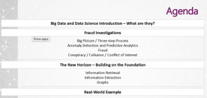 Leveraging Data Science Tools for Fraud Investigation