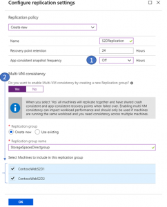 Protect Azure Virtual Machines using storage spaces direct with Azure Site Recovery