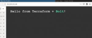 Cloud provisioning with Terraform and Bolt