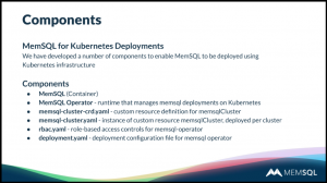 Managing MemSQL with Kubernetes