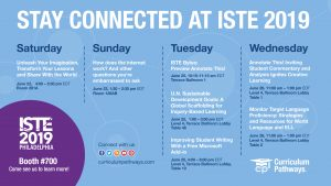 ISTE 2019: Seven Amazing Sessions, One Demo Area + the World!