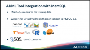 Webinar: Operationalizing Predictive and ML Applications with MemSQL