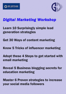 Register for our Digital Marketing Workshop