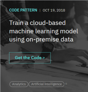 Using data across a hybrid environment to train machine learning models