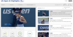 How AI picks the most exciting moments at the US Open without bias