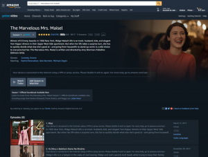 How to Watch The Marvelous Mrs. Maisel in 2019