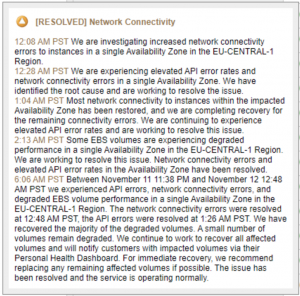 AWS eu-central-1 Was Down and Our Customers Didn't Even Know