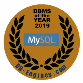 MySQL is the DBMS of the Year 2019