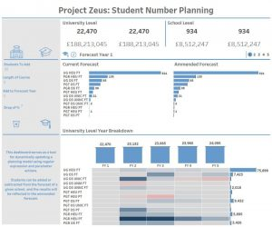 Using Parameters as a data Source for Student Number Planning