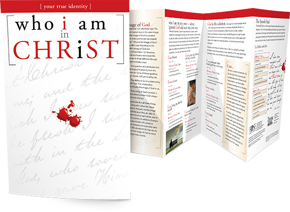 Who I Am in Christ fold-out booklet