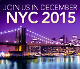 Join us in NYC, this December 2015