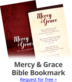 Free Bible Bookmark; Mercy & Grace