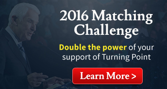 2016 Matching Challenge, Double the power of your support of Turning Point, Learn More