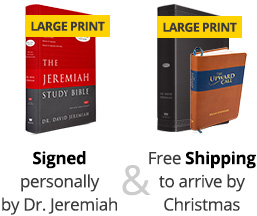 The Jeremiah Study Bible; Signed personally by Dr. Jeremiah and Free Shipping to arrive before Christmas