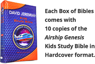 Each Box of Bibles comes with10 copies of the Airship GenesisKids Study Bible in Hardcover format.
