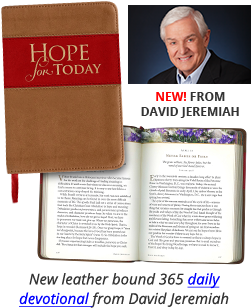 Hope for Today, New leather bound 365 daily devotional from Dr. David Jeremiah