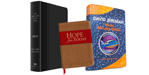 Hope for Today + NIV Jeremiah Study Bible + Airship Genesis Bible