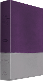 Jeremiah Study Bible - Purple & Gray Soft-Touch LeatherLuxe