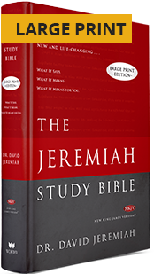 Jeremiah Study Bible - Hardcover Large Print Edition