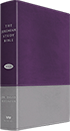 Jeremiah Study Bible - Gray & Purple Soft-Touch Leather Luxe
