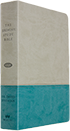 Jeremiah Study Bible - Gray & Teal Soft-Touch LeatherLuxe