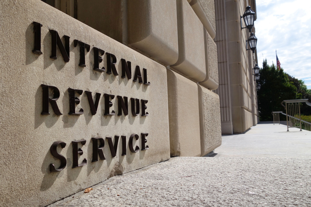 A sign outside the Internal Revenue Service is seen August 8, 2015 in Washington, DC. AFP PHOTO / KAREN BLEIER        (Photo credit should read KAREN BLEIER/AFP/Getty Images)