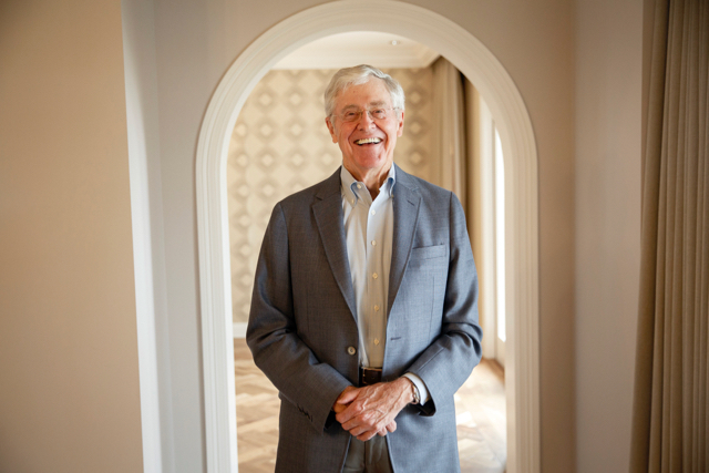 Charles Koch. (Photo by Patrick T. Fallon for The Washington Post via Getty Images)