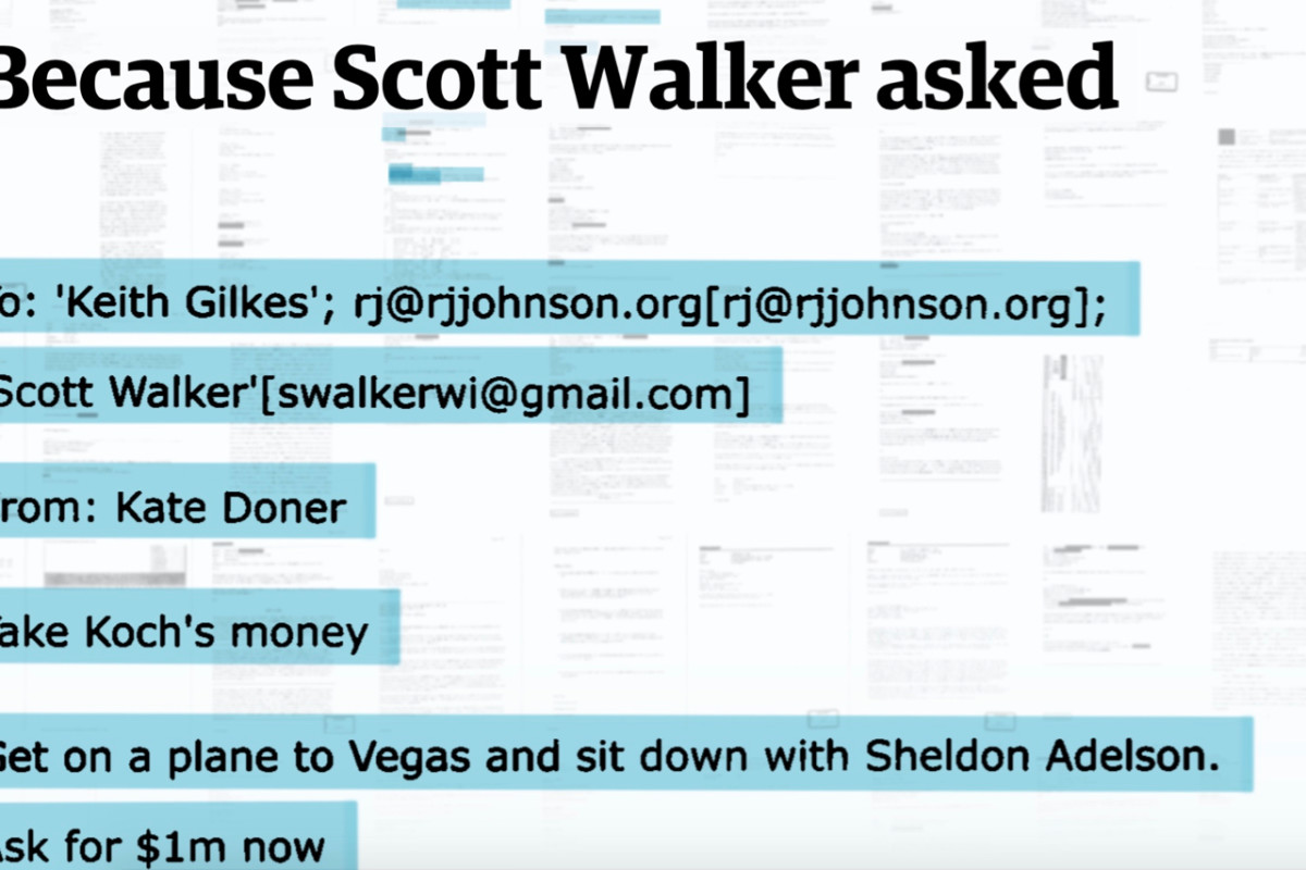 Because Scott Walker Asked