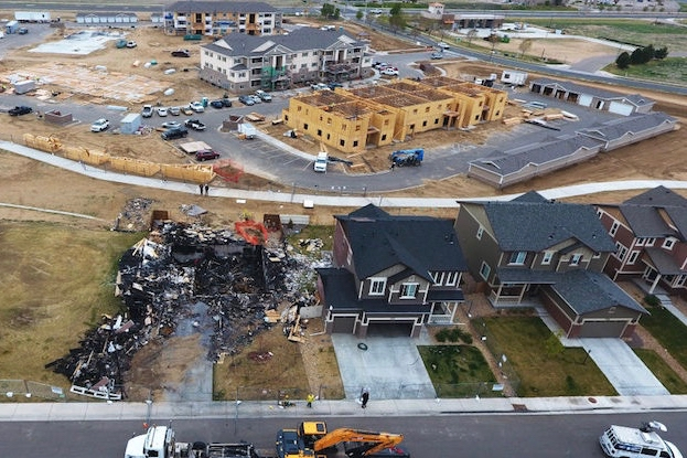 The aftermath of a fatal house explosion in Firestone, Colorado on April 27, 2017 related to a gas line linked to an Anadarko Petroleum. Photo by RJ Sangosti of The Denver Post via Getty Images.
