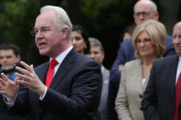 U.S. Health and Human Services Secretary Tom Price.  (Photo by Alex Wong/Getty Images)