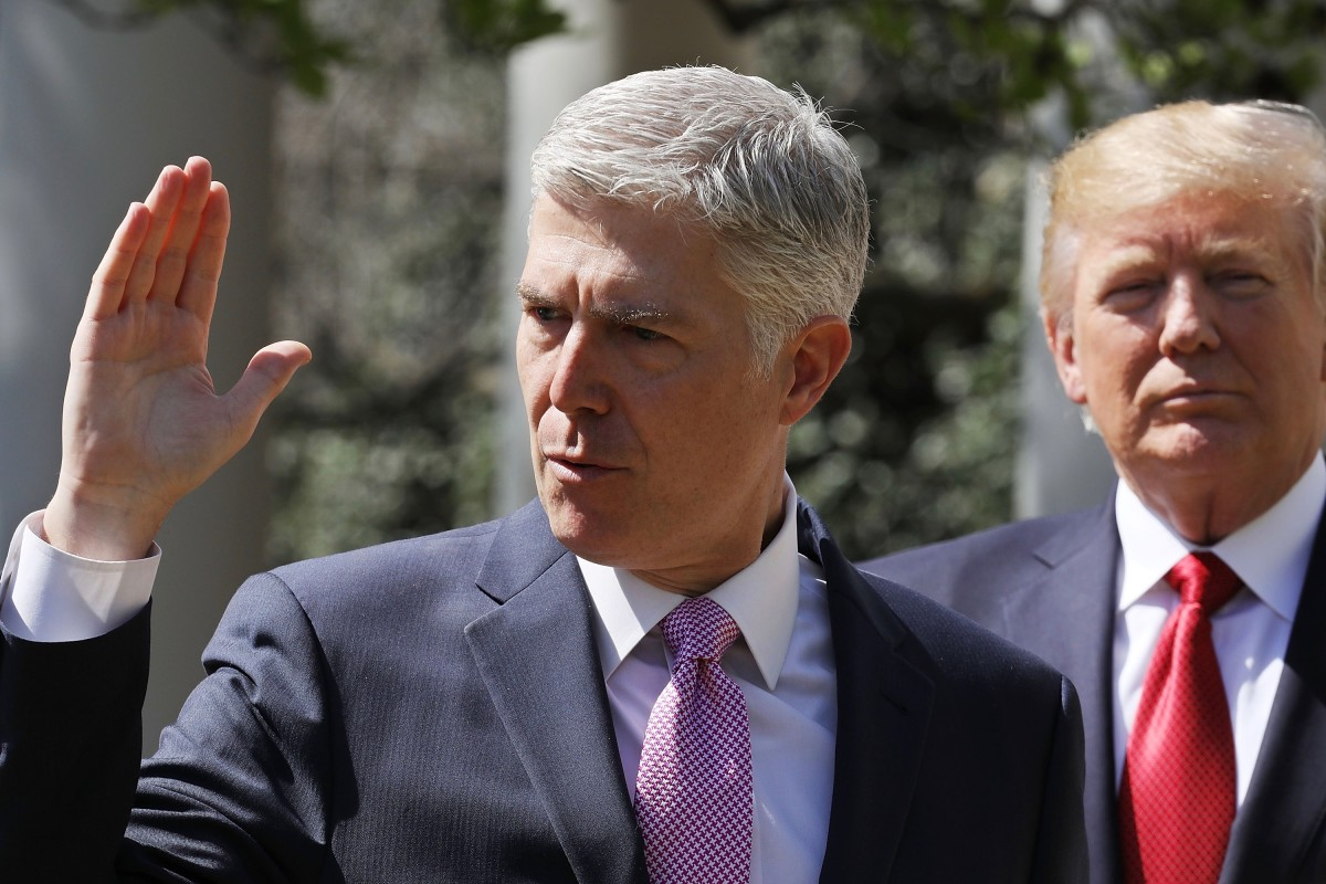 Neil Gorsuch Is Sworn In As Associate Justice To Supreme Court. Gorsuch's confirmation was supported by a massive single donation from an anonymous donor.