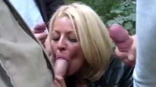 British Milf Tia Outdoor Dogging Blowbang Big Cocks
