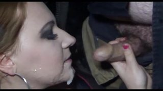Massive Facial dogging in Ireland with Tia