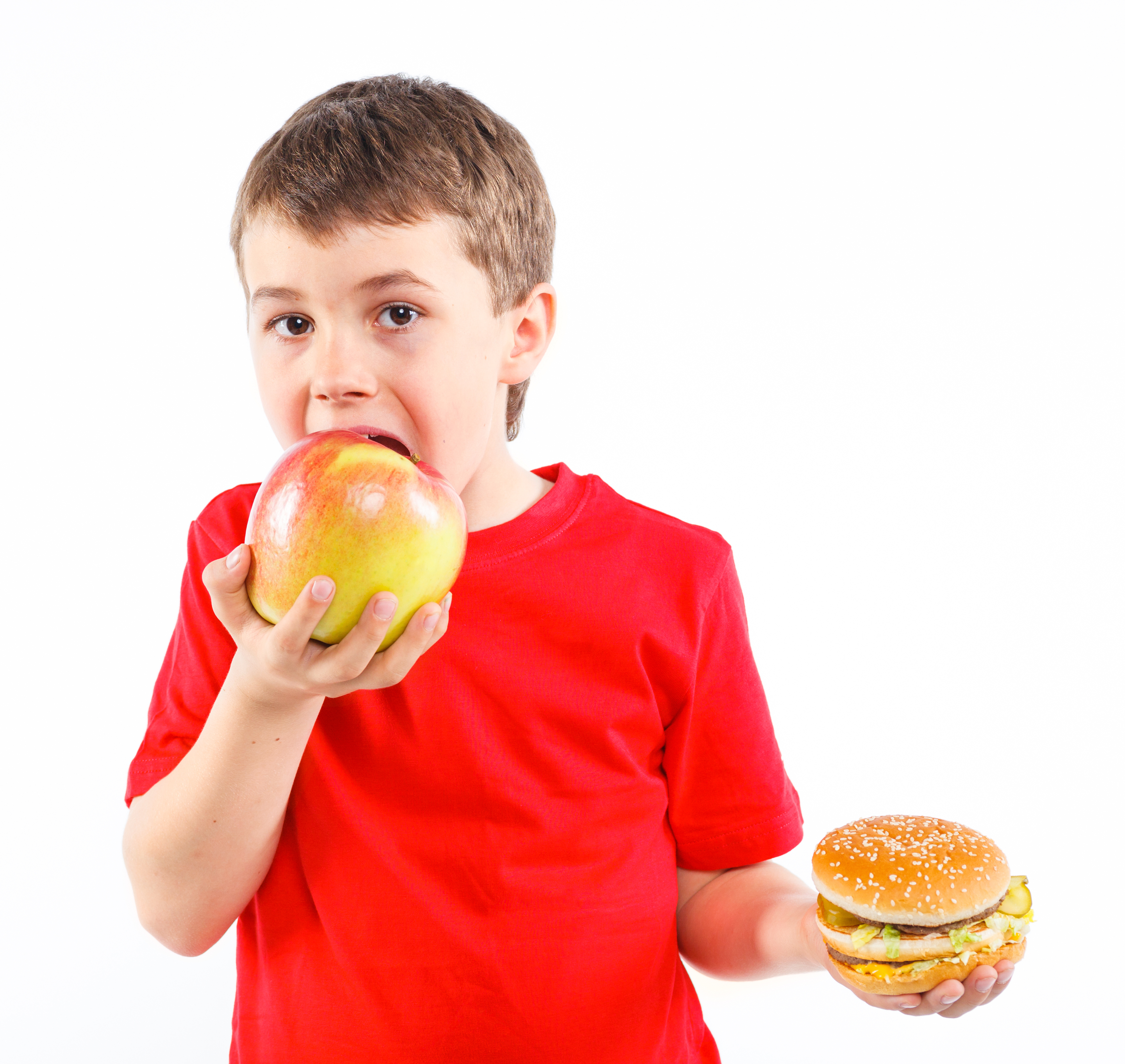 kid choosing fruit