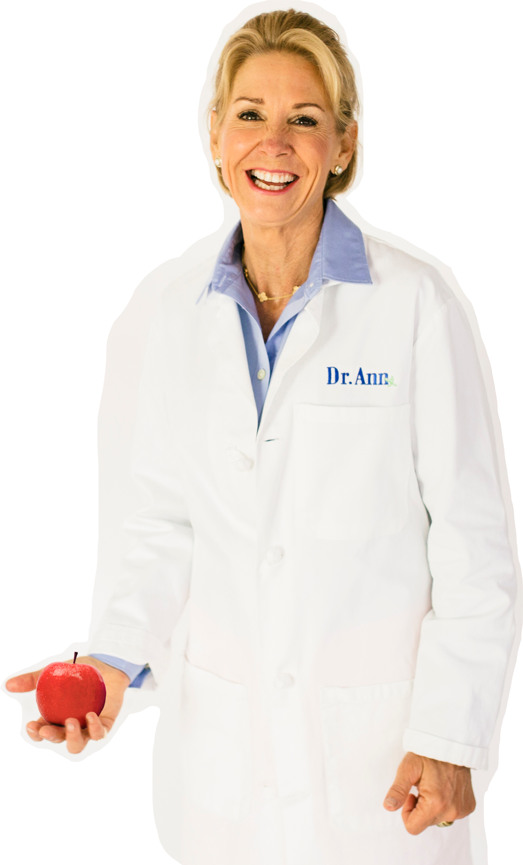 Dr. Coat Red Apple Cut Out