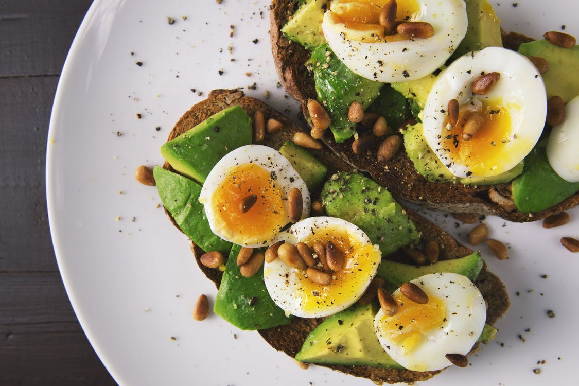 avocado breakfast egg plate