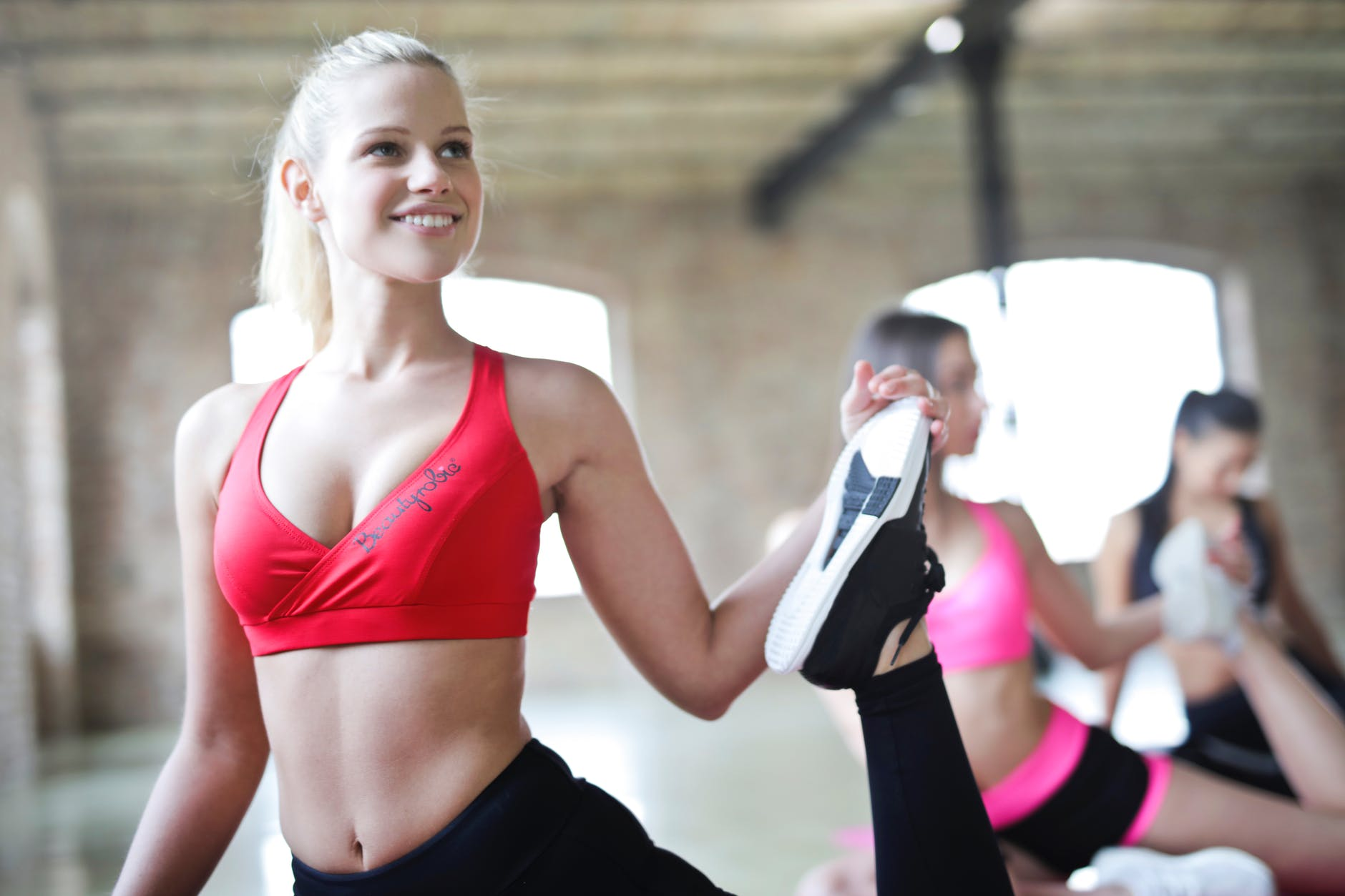 weight loss exercise woman happy