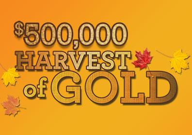 $500,000 Harvest of Gold Logo