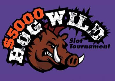 $5,000 Hog Wild Slot Tournament Logo