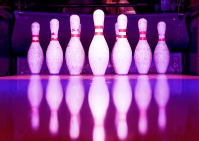 Looking towards bowling pins