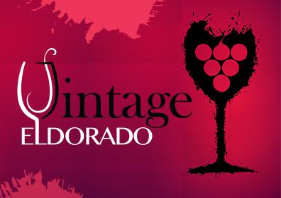 Vintage Eldorado Wine Glass Logo